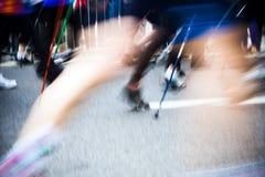 gå för race för stadsrörelse nordiskt Royaltyfri Fotografi