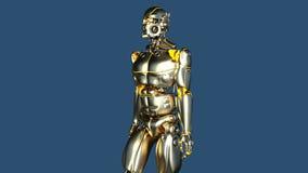 gå för robot vektor illustrationer