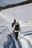 gå för snow Royaltyfria Bilder