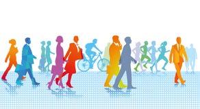 Gå för stadsfolk vektor illustrationer