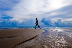 gå för strand Arkivbilder
