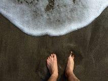 gå för strand Arkivbild