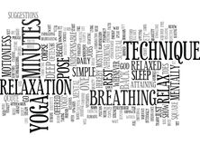 Gå framåt och koppla av för vägtext för yoga S begreppet för molnet för ordet för bakgrund vektor illustrationer