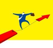 Gå framåtriktat till framgång med risk stock illustrationer