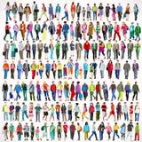 Gå framlänges 01 personer 2D stock illustrationer