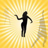 Gå-går vektorn för dansflickor Arkivfoto