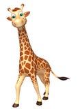 Gå girafftecknad filmteckenet royaltyfri illustrationer