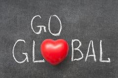 Gå global Arkivfoton