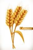 Gå i ax av vete gears symbolen vektor illustrationer