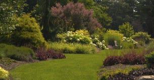 Gå i en sommarträdgård Fotografering för Bildbyråer