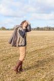 Gå i fälten Fotografering för Bildbyråer