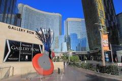 Gå i Las Vegas vägg för gator för tegelstenstadsflicka Kommersiellt och privat byggande Fotografering för Bildbyråer