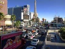 Gå i Las Vegas vägg för gator för tegelstenstadsflicka Kommersiellt och privat byggande Arkivfoto