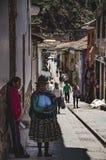 Gå i marknaden av Pisaq Royaltyfria Foton