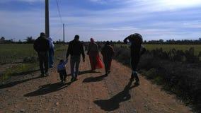 Gå i Marocko Royaltyfria Foton