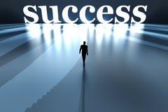 Gå in mot framgång vektor illustrationer