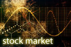 gå ned marknadsmateriel stock illustrationer