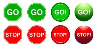 Gå och stoppa Fotografering för Bildbyråer