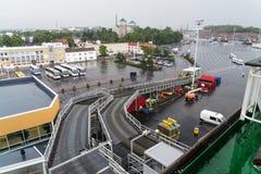 Gå ombord färjan Turku Royaltyfri Fotografi