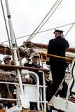 gå ombord för amiral Arkivbilder