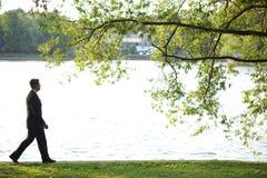 Gå på floden royaltyfri bild