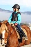 Gå på hästrygg Royaltyfri Bild
