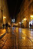 Gå på natten Lviv Arkivbild