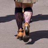 Gå på trottoaren, New York City royaltyfria bilder