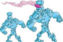 Gå robot stock illustrationer