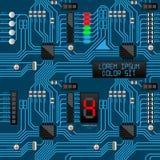 Gå runt den elektroniska mobilen för den digitala datoren för brädet modellen integrerade Royaltyfri Foto