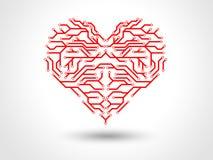 Gå runt röda förälskelsehjärtor Vektor Illustrationer