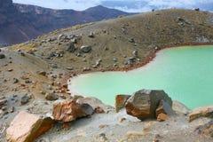 Gå siktar på den Tongariro korsningen, den norr ön, Nya Zeeland Fotografering för Bildbyråer