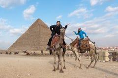 Gå som egyptier royaltyfria bilder