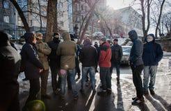 Gå strejkvakt det pro-ryska politiska partiet Royaltyfri Fotografi