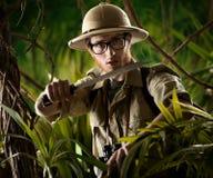 Gå till och med djungeln Arkivbild