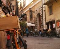 Gå till och med Rome Arkivfoto