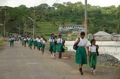 Gå till skolaAndaman öar Royaltyfri Bild