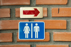 Gå till toaletten royaltyfria bilder