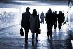 gå ut från gångtunneltunnelbanan Royaltyfria Bilder