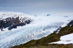 gå ut från glaciären Royaltyfria Foton