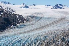 gå ut från glaciären Arkivfoto