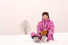 gå vintern Arkivfoton