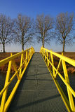 gå yellow för bro Royaltyfri Foto