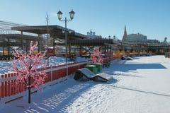 Gå zon på den Kremlevskaya invallningen kazan russia Arkivfoto