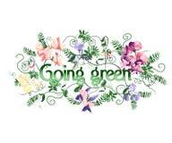 Gående green Royaltyfria Foton
