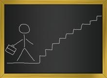 gående man för affär uppför trappan Royaltyfri Illustrationer