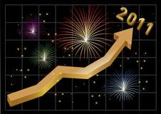 gående nytt övre år 2011 för pilaffär vektor illustrationer