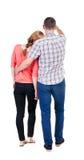 Gående par för tillbaka sikt Royaltyfri Foto