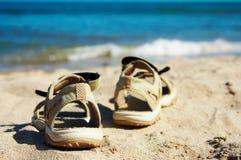 gående sandalsbad till Arkivbilder