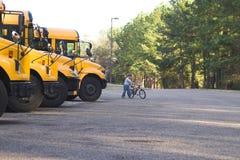 gående skola till Royaltyfria Foton